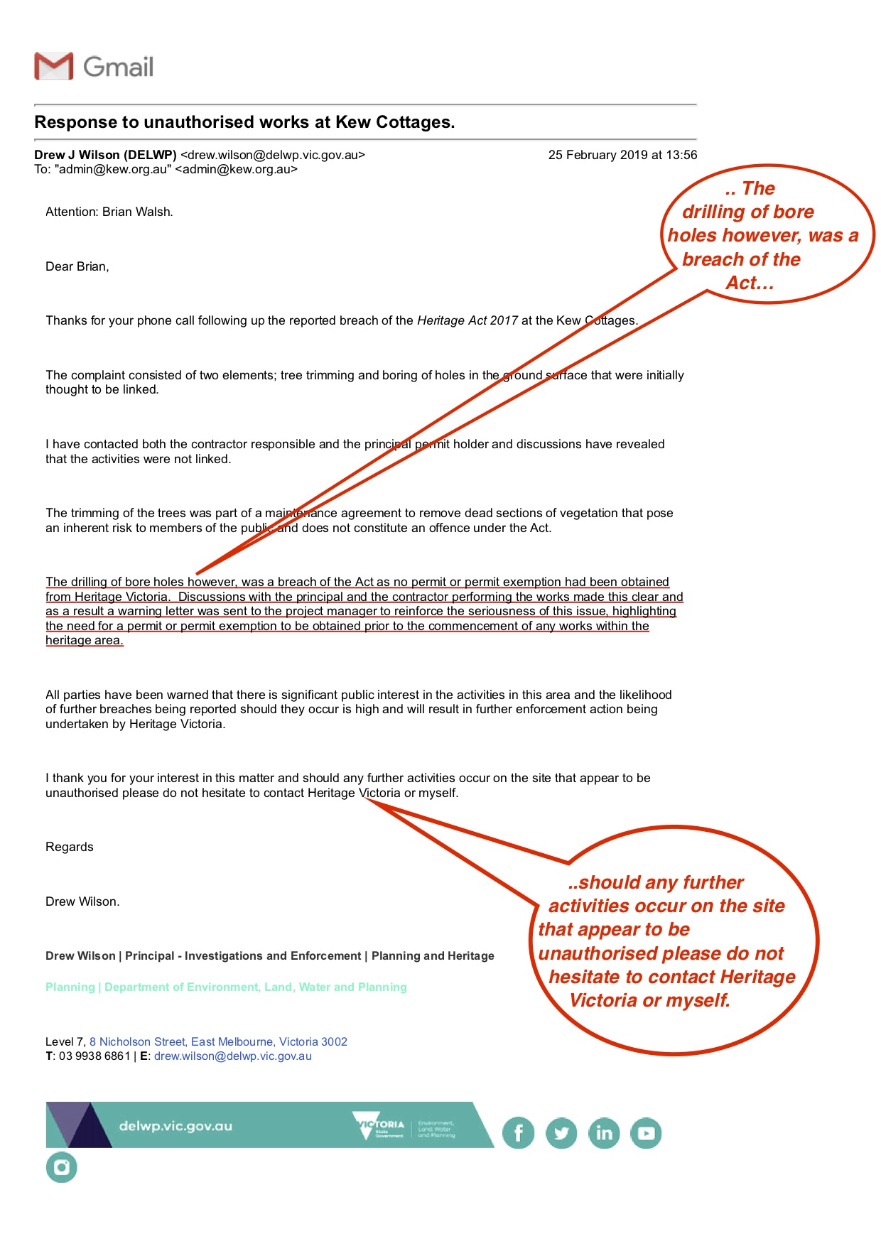 20190225Gmail_HV2KCC_Response_to unauthorised_works_at_Kew_Cottages